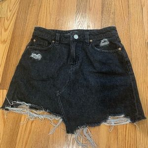 urban outfitters BDG charcoal denim skirt